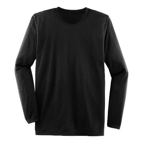 Mens Brooks Podium Long Sleeve Technical Tops - Black XS