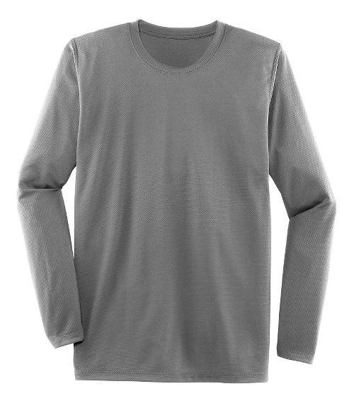 Mens Brooks Podium Long Sleeve Technical Tops - Light Gray XS