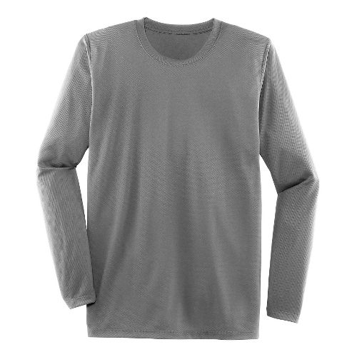 Mens Brooks Podium Long Sleeve Technical Tops - Light Gray L
