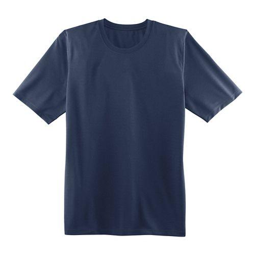Mens Brooks Podium Short Sleeve Technical Tops - Navy L