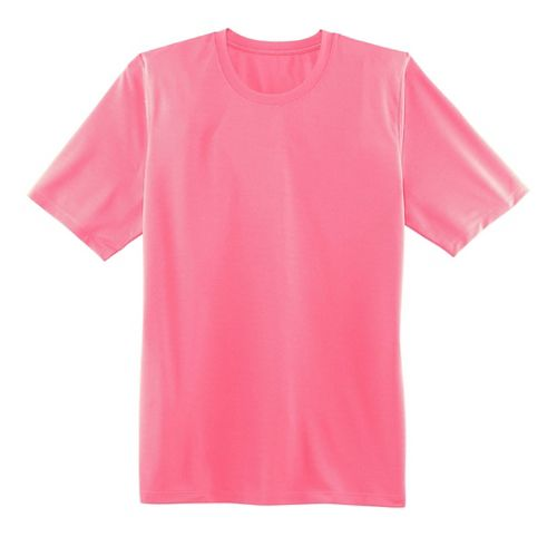 Mens Brooks Podium Short Sleeve Technical Tops - Brite Pink L