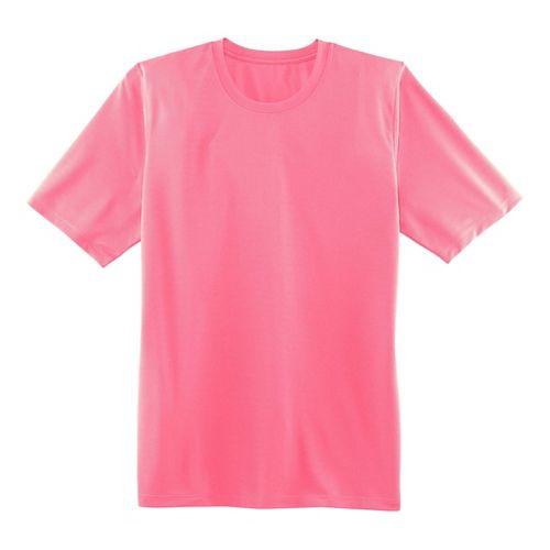 Mens Brooks Podium Short Sleeve Technical Tops - Brite Pink XS
