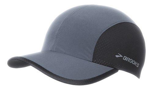 Brooks Run-Thru Hat Headwear - Asphalt/Black