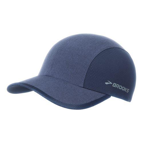 Brooks Run-Thru Hat Headwear - Heather Navy/Navy