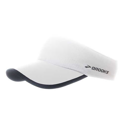 Brooks Run-Thru Visor Headwear - White