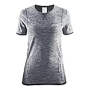 Womens Craft Active Comfort RN Short Sleeve Technical Tops - Black XS