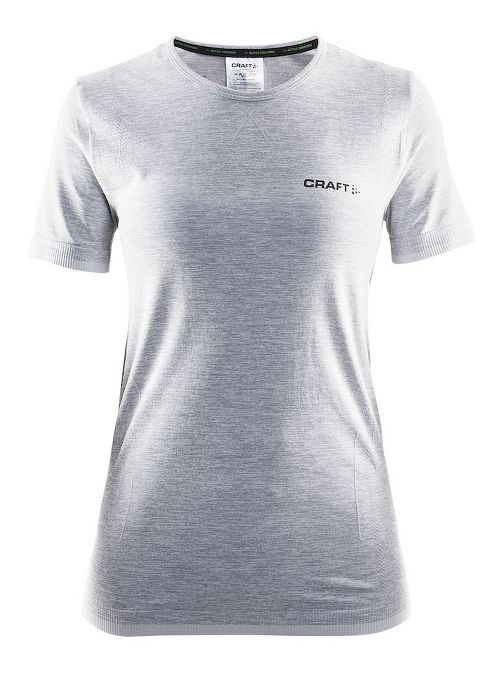 Womens Craft Active Comfort RN Short Sleeve Technical Tops - Grey L