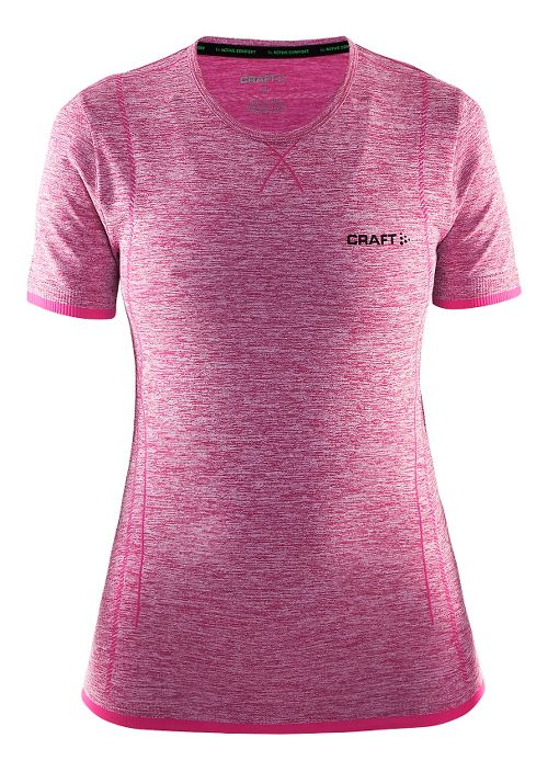Womens Craft Active Comfort RN Short Sleeve Technical Tops - Smoothie L