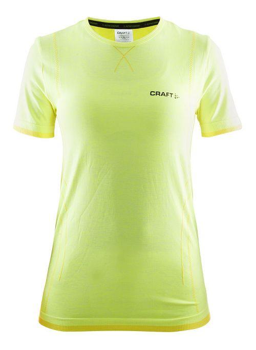 Womens Craft Active Comfort RN Short Sleeve Technical Tops - Flumino S