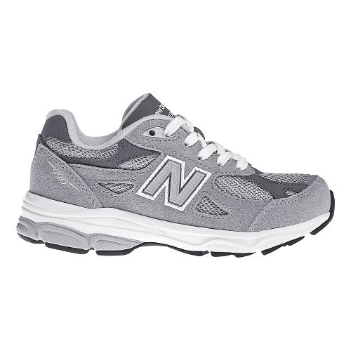 Kids New Balance 990v3 Running Shoe - Grey/White 3.5Y