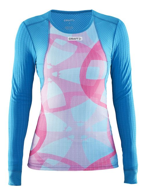Womens Craft Active Extreme Concept Piece Long Sleeve Technical Tops - Blue/Grey S