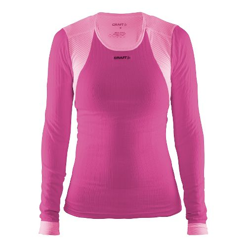 Womens Craft Active Extreme Concept Piece Long Sleeve Technical Tops - Smoothie/Pop L