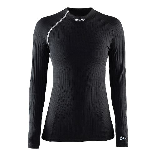 Womens Craft Active Extreme Crewneck Long Sleeve Technical Tops - Black S