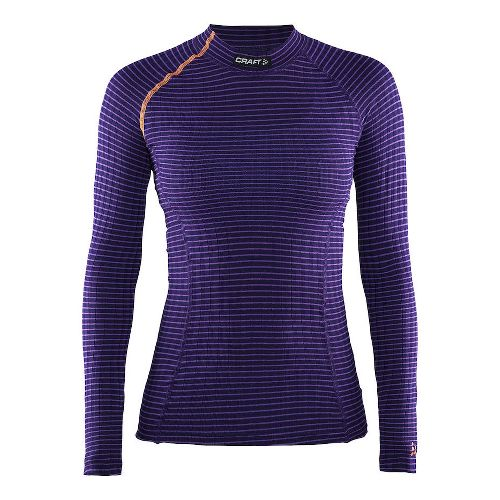 Womens Craft Active Extreme Crewneck Long Sleeve Technical Tops - Ruby/Crush L