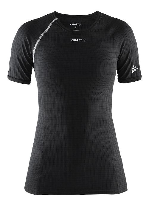Womens Craft Active Extreme Short Sleeve Technical Tops - Black/Platinum M