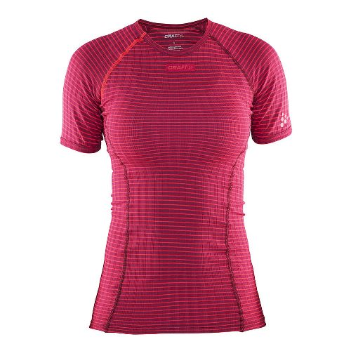 Womens Craft Active Extreme Short Sleeve Technical Tops - Ruby/Crush XL