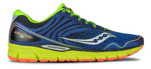 Mens Saucony Breakthru 2 Running Shoe - Blue/Citron 11