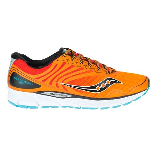 Mens Saucony Breakthru 2 Running Shoe - Orange/Red 8
