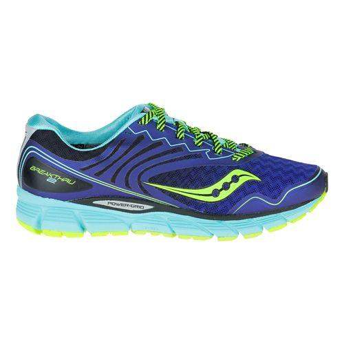 Womens Saucony Breakthru 2 Running Shoe - Twilight/Oxygen 9.5