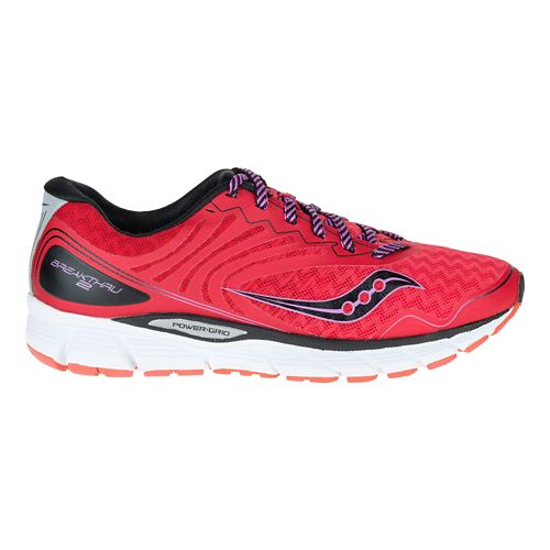 Womens Saucony Breakthru 2 Running Shoe - Pink/Black 7