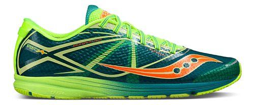 Mens Saucony Type A Running Shoe - Green/Citron 14