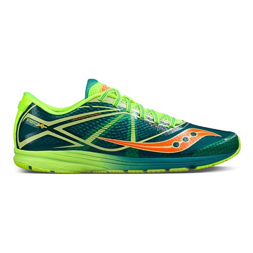 Mens Saucony Type A Running Shoe - Green/Citron 10.5