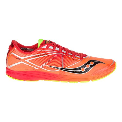 Mens Saucony Type A Running Shoe - Orange/Red 12