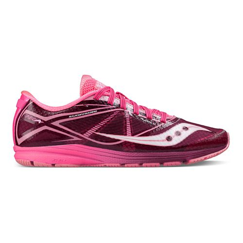 Womens Saucony Type A Running Shoe - Pink/Purple 7.5