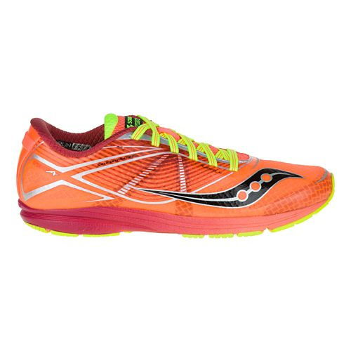 Womens Saucony Type A Running Shoe - Coral/Citron 7.5