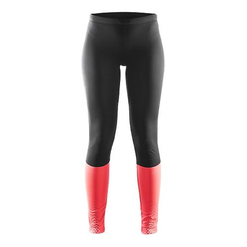 Womens Craft Brilliant Thermal Tights & Leggings Pants - Black/Crush M