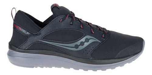 Mens Saucony Kineta Relay Runshield Running Shoe - Black/Red 8