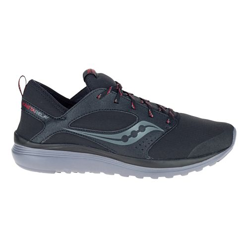 Mens Saucony Kineta Relay Runshield Running Shoe - Black/Red 8
