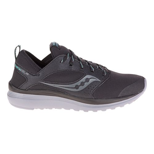 Mens Saucony Kineta Relay Runshield Running Shoe - Black/Mint 11