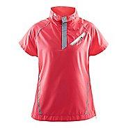 Womens Craft Brilliant Windbreaker Short Sleeve Technical Tops - Dusty Pink L