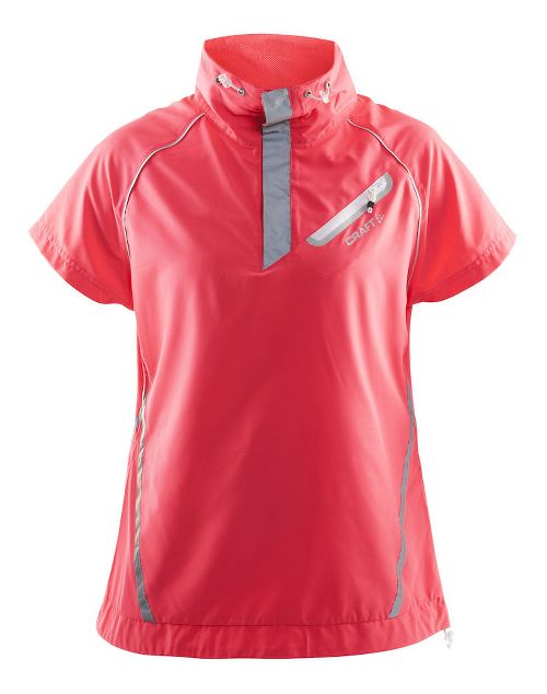 Womens Craft Brilliant Windbreaker Short Sleeve Technical Tops - Dusty Pink M