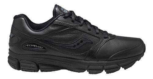 Mens Saucony Echelon LE 2 Walking Shoe - White/Silver 10.5