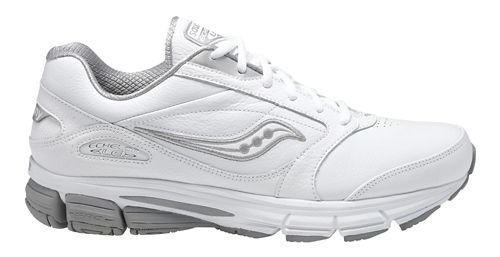 Mens Saucony Echelon LE 2 Walking Shoe - White/Silver 12