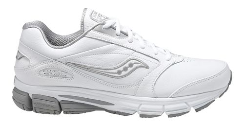 Mens Saucony Echelon LE 2 Walking Shoe - White/Silver 8