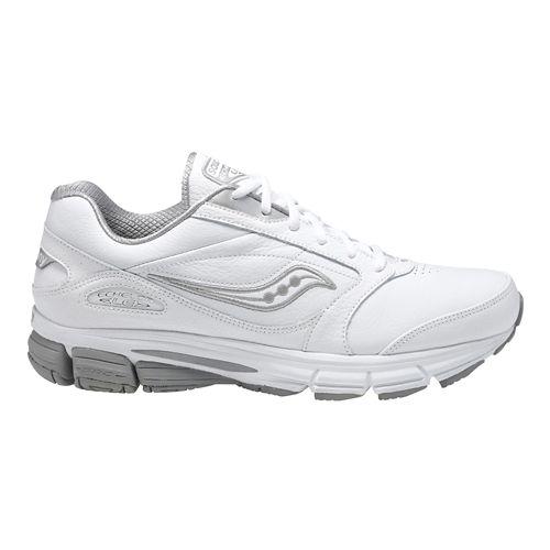 Mens Saucony Echelon LE 2 Walking Shoe - White/Silver 8.5