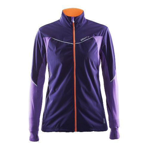 Womens Craft Defense Running Jackets - Dynsty/Lilac M