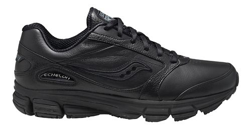 Womens Saucony Echelon LE 2 Walking Shoe - Black 5.5