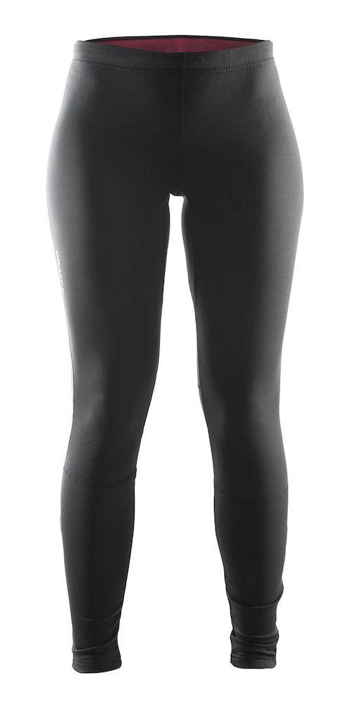 Womens Craft Defense Thermal Tights & Leggings Pants - Black/Ruby L