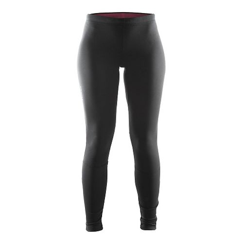 Womens Craft Defense Thermal Tights & Leggings Pants - Black/Ruby L