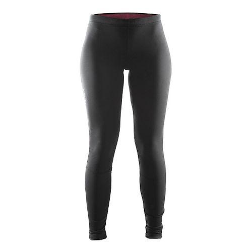 Womens Craft Defense Thermal Tights & Leggings Pants - Black/Ruby M