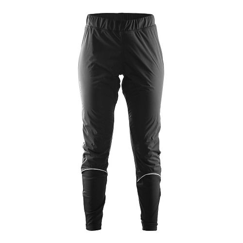 Womens Craft Defense Wind Tights & Leggings Pants - Black XS