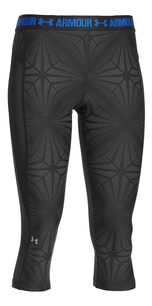 Womens Under Armour HeatGear Coolswitch Capris Pants - Black L