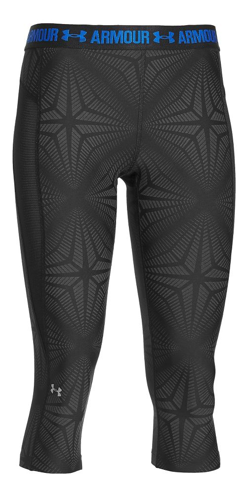 Womens Under Armour HeatGear Coolswitch Capris Pants - Black S
