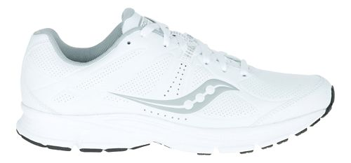 Mens Saucony Momentum Walking Shoe - White/Grey 7.5