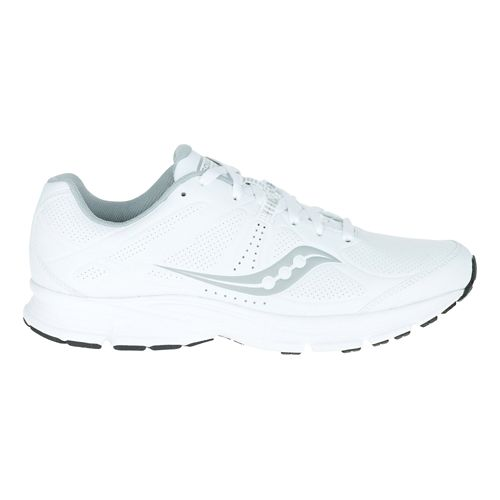 Mens Saucony Momentum Walking Shoe - White/Grey 8