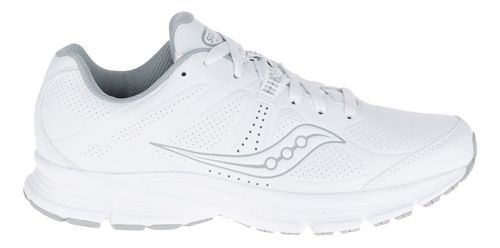 Womens Saucony Momentum Walking Shoe - White/Grey 5.5
